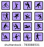 sport actions silhouettes flat | Shutterstock .eps vector #783088531