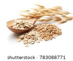 scoop and pile of oatmeal with... | Shutterstock . vector #783088771