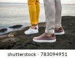 male shoes sneakers outdoors....   Shutterstock . vector #783094951