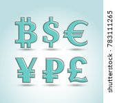 currency  exchange icons set.... | Shutterstock .eps vector #783111265