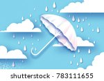 white umbrella. air with... | Shutterstock .eps vector #783111655