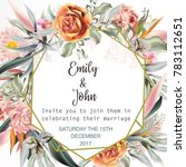beautiful wedding invitation... | Shutterstock .eps vector #783112651