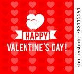 happy valentine's day vector... | Shutterstock .eps vector #783115591