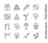 line icon design for birthday... | Shutterstock .eps vector #783118564