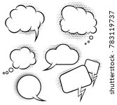 set of comic style speech... | Shutterstock .eps vector #783119737