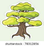 Stylized tree for your design. Vector. - stock vector