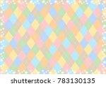 star and argyle diamond pattern ... | Shutterstock .eps vector #783130135
