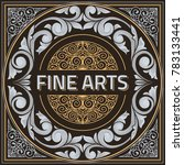 vintage decorative ornate label ... | Shutterstock .eps vector #783133441