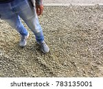 man standing on road with... | Shutterstock . vector #783135001