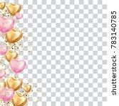 gold pink heart balloon...   Shutterstock .eps vector #783140785