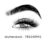 hand drawn woman's sexy... | Shutterstock .eps vector #783140941