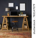 stylish workplace interior room | Shutterstock . vector #783147079