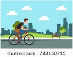 Young Man Rides A Sports Bike...
