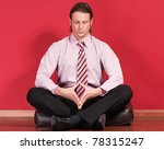 relaxed businessman sitting on... | Shutterstock . vector #78315247