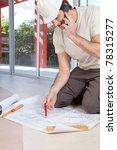 architect working on blueprint...   Shutterstock . vector #78315277