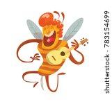 vector cartoon image of a funny ... | Shutterstock .eps vector #783154699