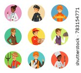 avatars set with different... | Shutterstock . vector #783154771