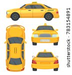 different views of taxi yellow...   Shutterstock . vector #783154891