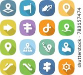 flat vector icon set   pointer... | Shutterstock .eps vector #783157474