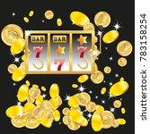 casino. golden slot machine...   Shutterstock .eps vector #783158254