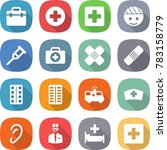 flat vector icon set   doctor... | Shutterstock .eps vector #783158779