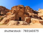 caved buildings of little petra ... | Shutterstock . vector #783160375