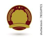 rounded retro badge template.... | Shutterstock .eps vector #783169921