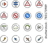 line vector icon set   right... | Shutterstock .eps vector #783173989
