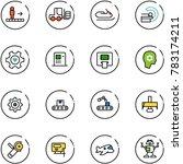 line vector icon set  ... | Shutterstock .eps vector #783174211