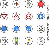line vector icon set   elevator ... | Shutterstock .eps vector #783174241