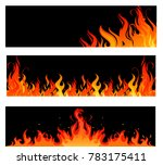 fire flames on black | Shutterstock .eps vector #783175411