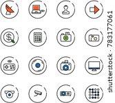 line vector icon set  ... | Shutterstock .eps vector #783177061