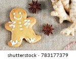 gingerbread man   the symbol of ... | Shutterstock . vector #783177379