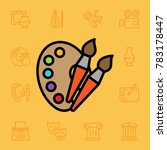 set of arts icons. vector... | Shutterstock .eps vector #783178447