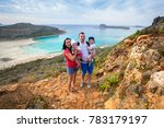 family with twins on holidays... | Shutterstock . vector #783179197