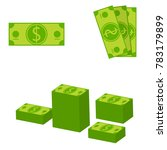 dollars different composition.... | Shutterstock .eps vector #783179899