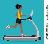 afro american girl running on... | Shutterstock .eps vector #783180559