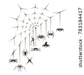 illustration of spiders and... | Shutterstock .eps vector #783184417