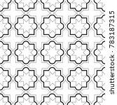 moroccan geometric tiles... | Shutterstock .eps vector #783187315