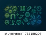 pathogenicity colorful outline... | Shutterstock .eps vector #783188209