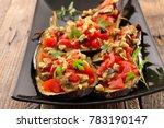 baked stuffed eggplant   Shutterstock . vector #783190147