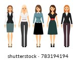 beautiful women in different... | Shutterstock . vector #783194194