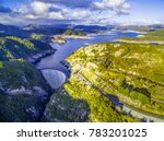 aerial view of gordon dam and... | Shutterstock . vector #783201025
