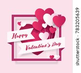 valentines day decorative paper ... | Shutterstock .eps vector #783205639