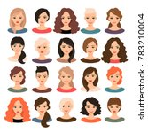 woman avatar set illustration.... | Shutterstock . vector #783210004