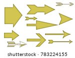 straight arrows of yellow color. | Shutterstock . vector #783224155