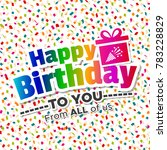 happy birthday to you card. | Shutterstock .eps vector #783228829