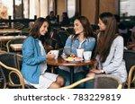 girls gossip. friends with... | Shutterstock . vector #783229819