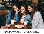 young female friends using... | Shutterstock . vector #783229867
