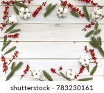 wooden background with a... | Shutterstock . vector #783230161
